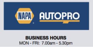 Holm's Mechanical Napa - Hours