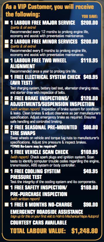 Holm's Mechanical Napa - Service