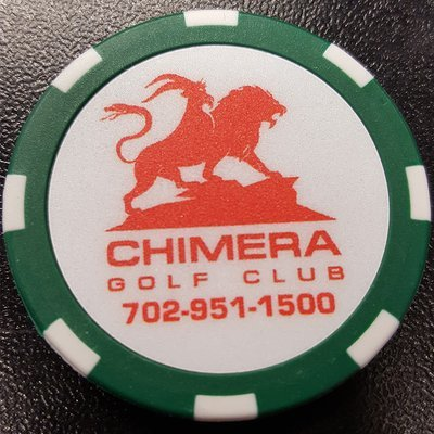 Chimera Poker Chip Golf Ball Marker - Green and White