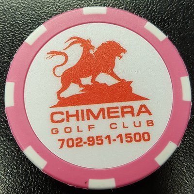 Chimera Poker Chip Golf Ball Marker​ - Pink and White