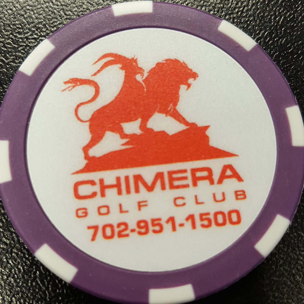 Chimera Poker Chip Golf Ball Marker​ - Purple and White