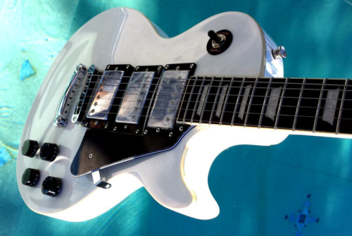 Elite Masters Style LP-WK White Knight ... 3 Pickup Guitar LIMITED