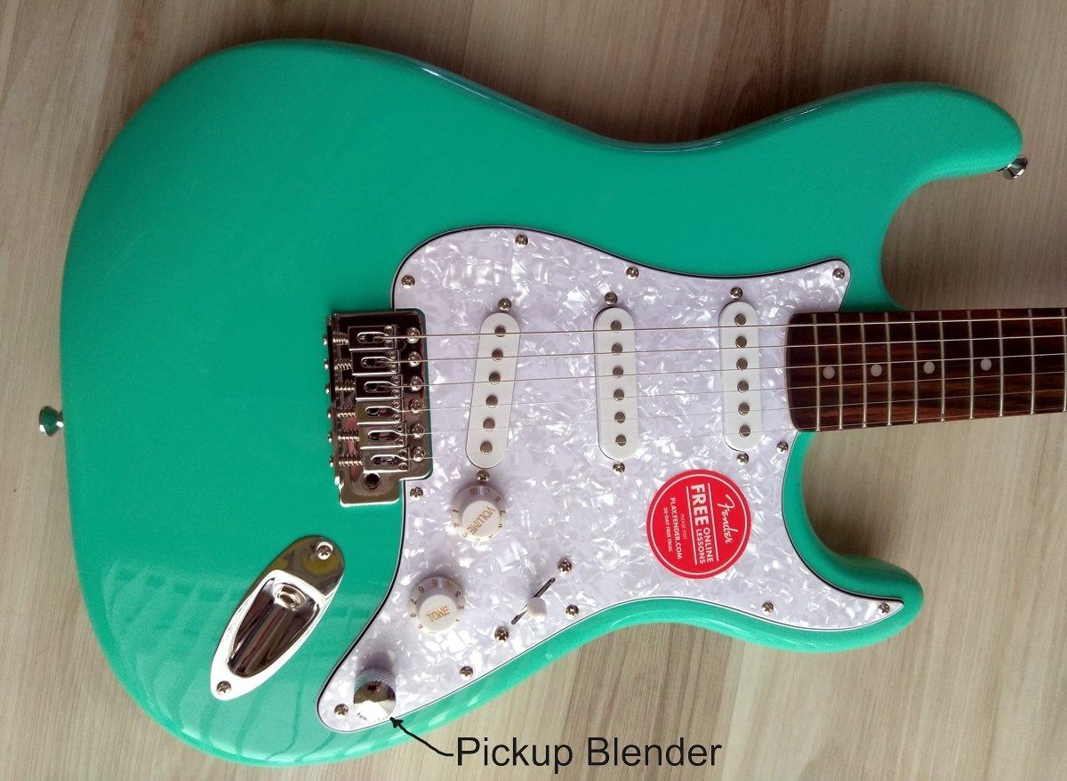 Fender Stratocaster Guitar Turbo+ SSS w/ Blender MOD Seafoam Squire Strat NEW