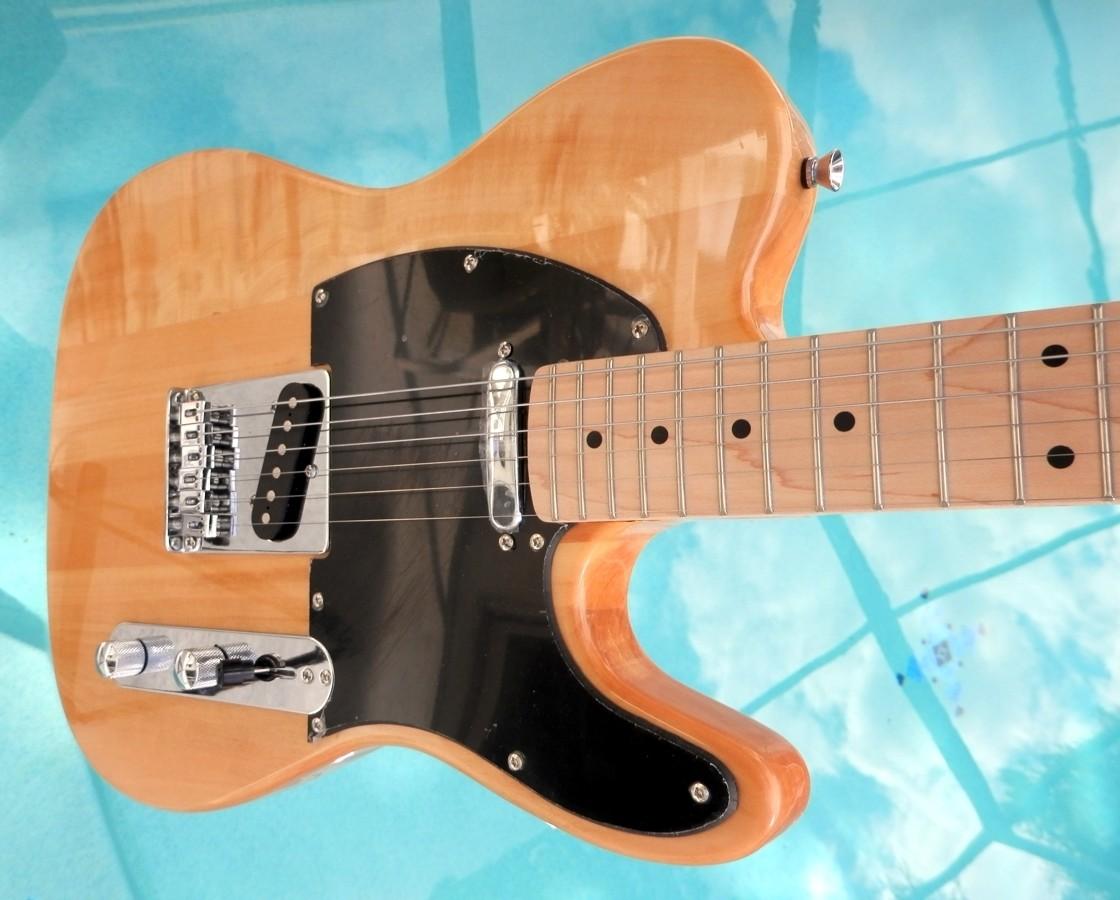"Elite Tele Telecaster Style Guitar "" The Natural "" Mdl TL-Nat Hot Z-Mule® Pups"