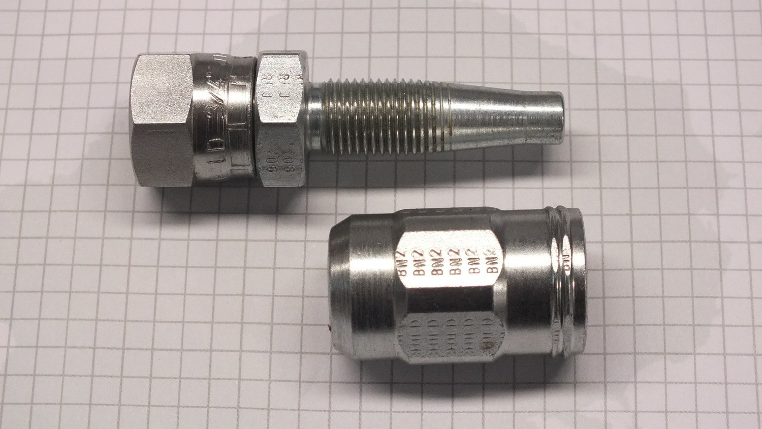 Hydraulic Hose Fitting field fit reusable 1/2