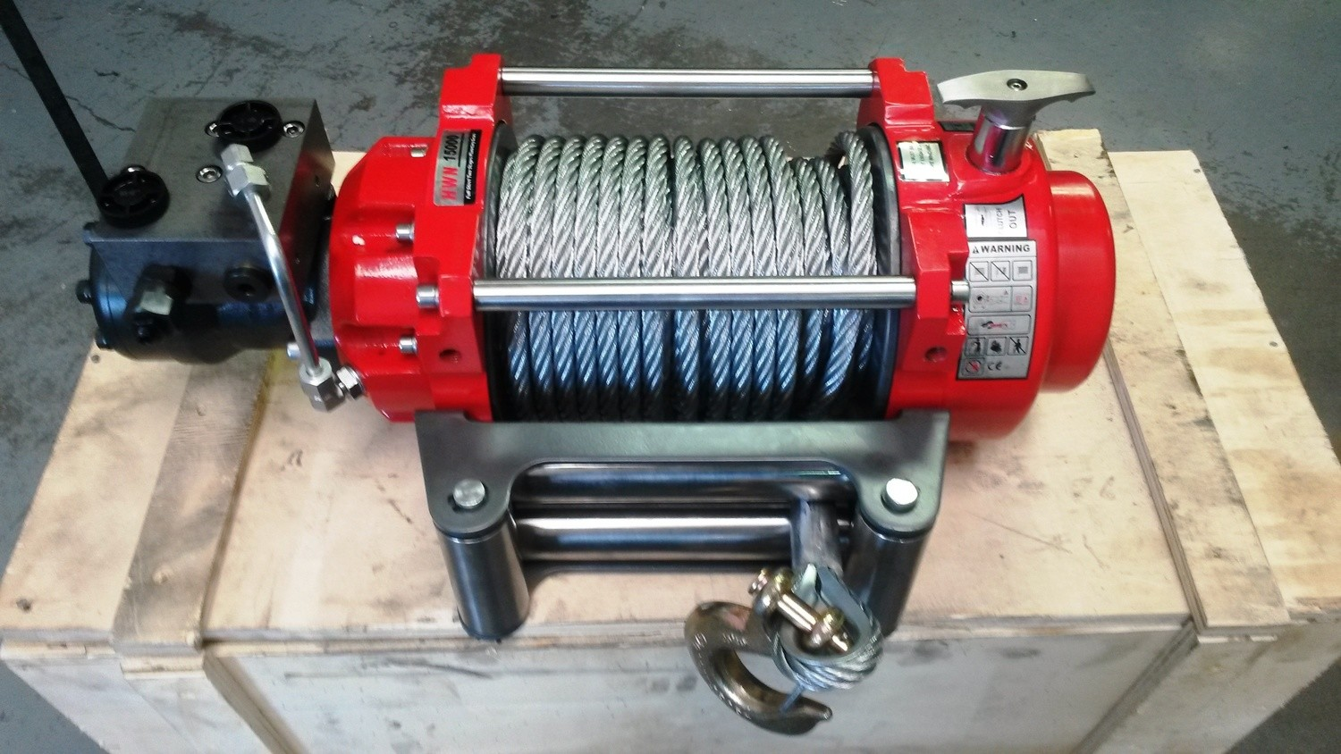 HYDRAULIC WINCH, TILT TRAYS TOW TRUCKS Rated Line Pull 15000 lBs 6800KG 26Mt