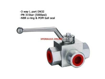 3 WAY VALVE HYDRAULIC L PORT 400Bar/6000PSI BSPP Made in Italy 1/4