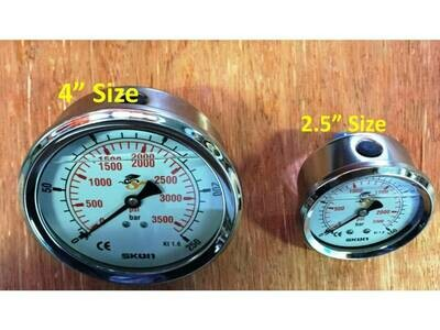 Pressure Gauge REAR ENTRY 10BAR to 700BAR 4