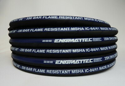 """3/8"""" 2 wire Hydraulic Hose 10m SAE100R2AT-06 4850 PSI SAE100R2AT-06 10m"""