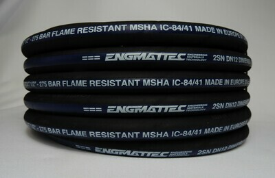 """1/2"""" 2 Wire Hydraulic Hose 10m SAE100R2AT-08 4000 PSI 100R2-08"""