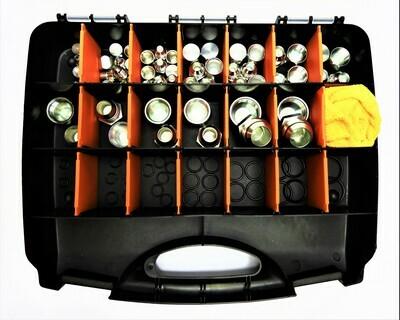 92  Pc JIC Plug Cap & O Ring Kit Dash 4 5 6 8 10 12 16 c/w Case