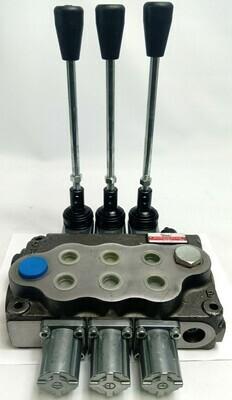 Hydraulic Flow Control Valve  3-Spool 80 Lt/Min