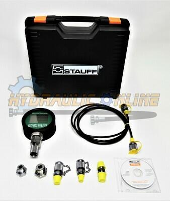 STAUFF Digital Pressure Test Kit 8,800 PSI 2M Test Hose