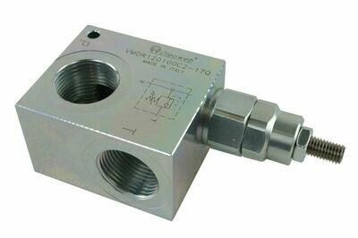 Hydraulic Inline Pressure Relief Valve 10-350 Bar/150-5000Psi 3/8