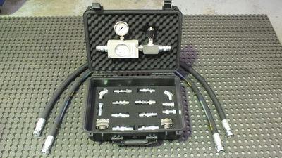Hydraulic Circuit Flow Internal Leak Test Kit 0-120 Lt/Min 5000 PSI+Thermometer