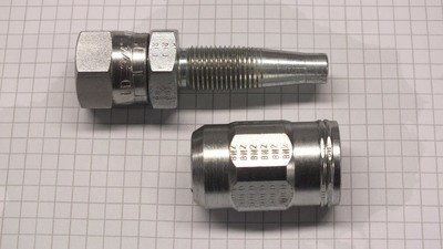 Hydraulic Hose Fitting field fit reusable 5/8
