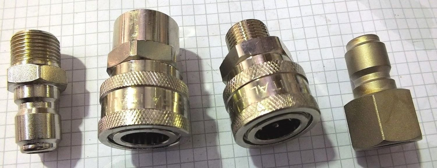 PRESSURE WASHER 3//8 QUICK CONNECT 4040PSI  FITTINGS MADE IN ITALY VARIOUS FEM//M