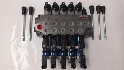 Hydraulic Flow Control Valve REMOTE CONTROL READY 5 Spool 80 Lt/Min