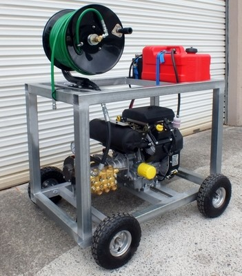 Kohler 20HP V Twin & Comet 4000PSI 20LPM Sewer Drain Cleaner Jetter Hose & Reel