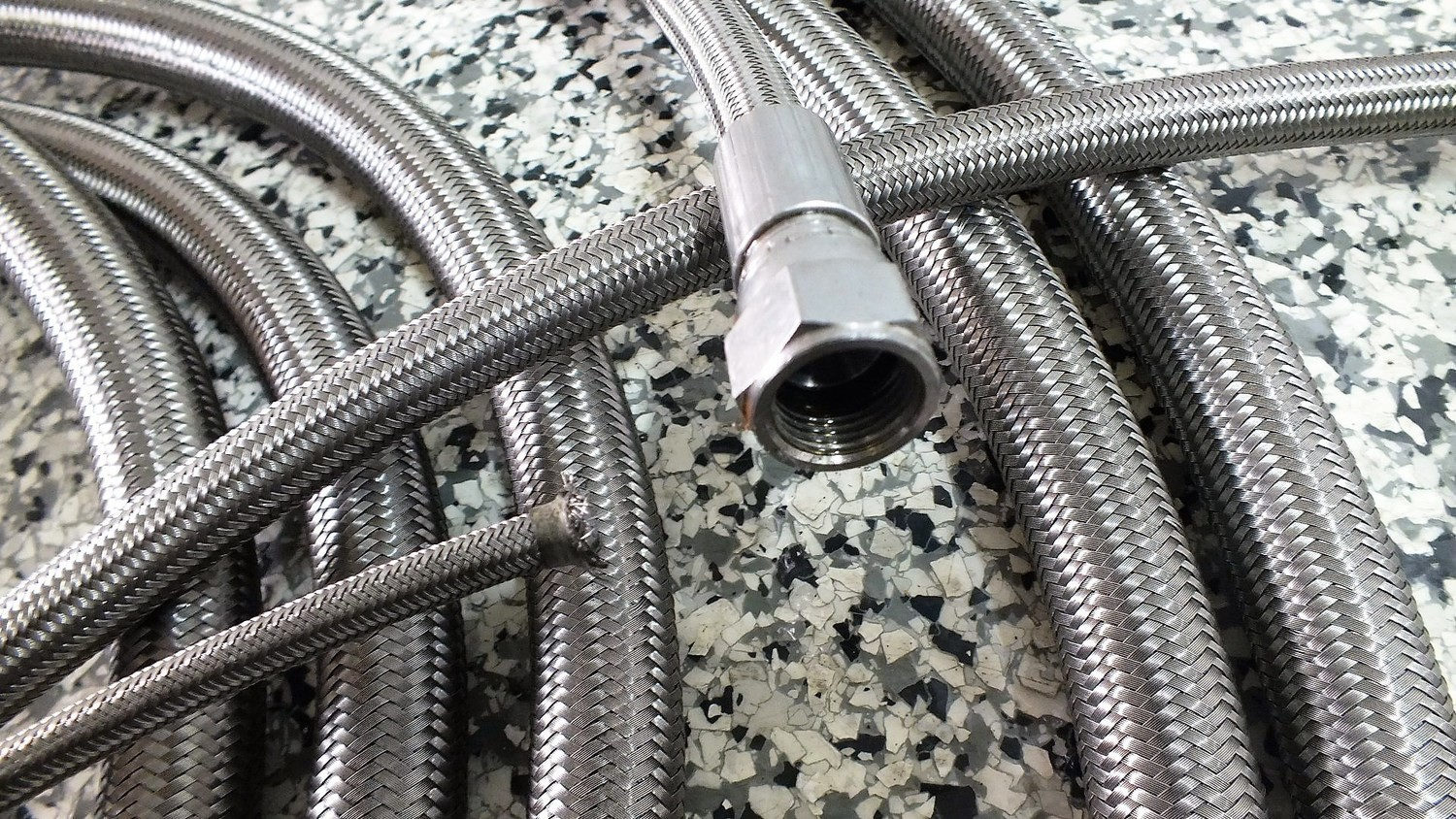 STAINLESS BRAIDED HYDRAULIC HOSE TURBO's AIR COMPRESSORS HIGH HEAT