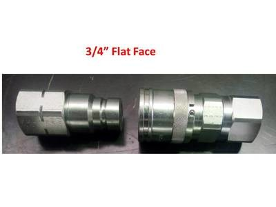 Flat Face Hydraulic Couplers 3/4