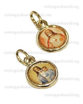 Medalla Redonda Pequeña Mini, Dorado o Plateado