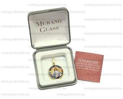 Medalla de Cristal Murano y chapado en oro