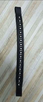 Black leather bling browband 14