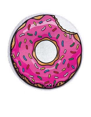 Donut with Sprinkles Round Beach Towel