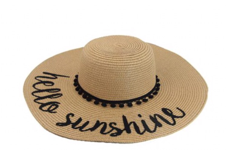 """Hello Sunshine"" Sun Hat - Beige"