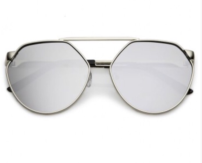Flatiron District Mirror Sunglasses - Silver