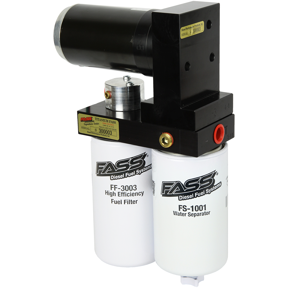 FASS TITANIUM SIGNATURE SERIES DIESEL FUEL LIFT PUMP 165GPH DODGE CUMMINS 5.9L AND 6.7L 2005-2018 (TS D07 165G) TSD07165G