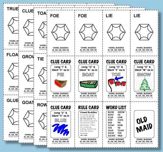 Phonics Games - Vowel Digraphs - IE, OA, OE, OW, UE