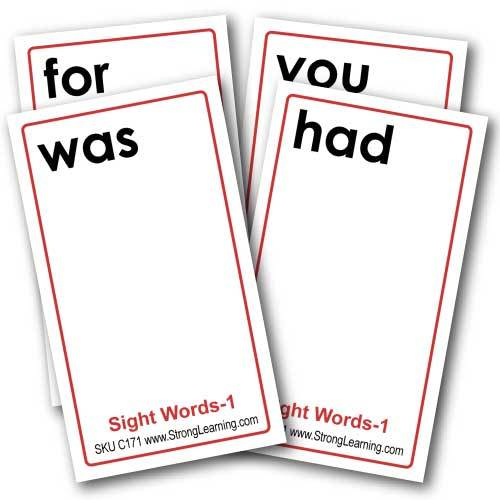 Sight Words 1 -- 4-in-1 Card Games
