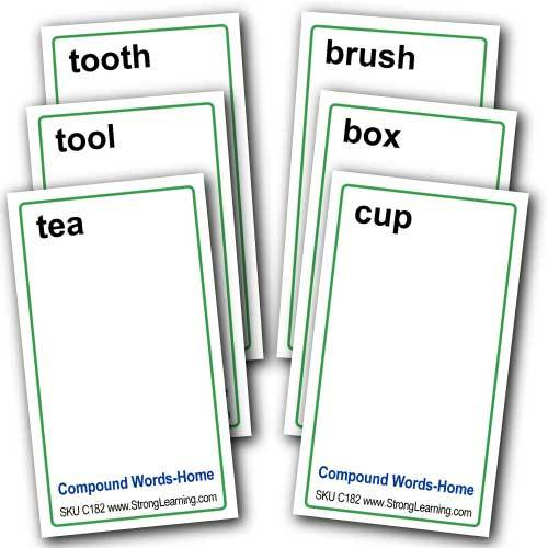 Compound Words for Animals -- 4-in-1 Card Game