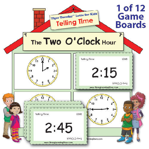 Telling Time Fill-the-House Game