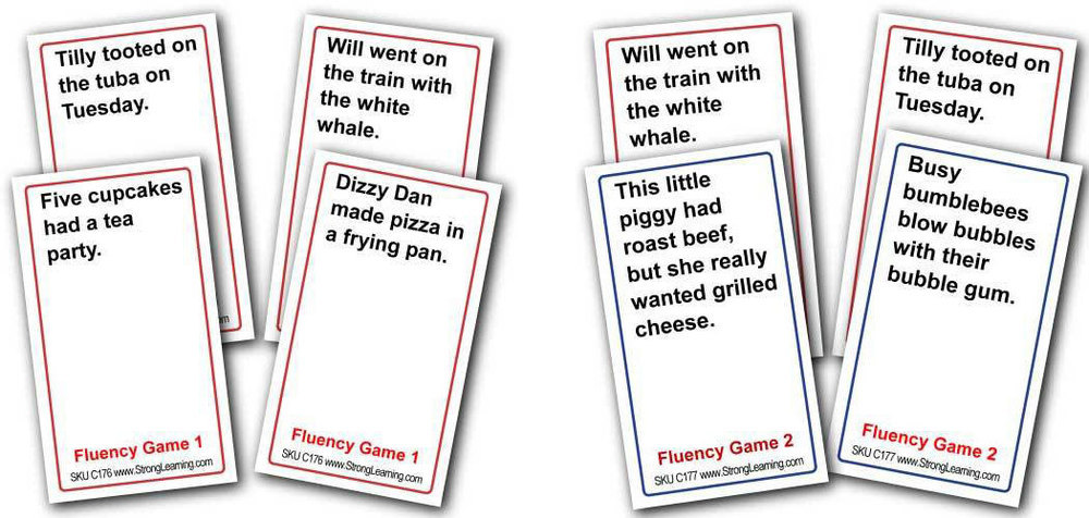 Reading Fluency Games - Two Levels -- (4 games in 1) -- SPECIAL Save 33%