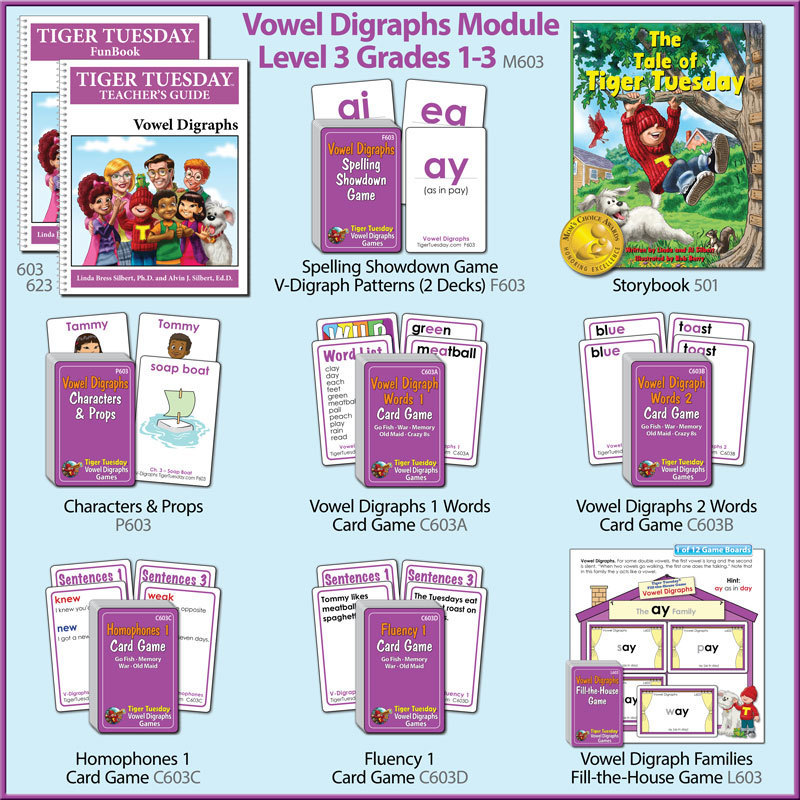Reading Module 3–Vowel Digraphs (3 Versions)
