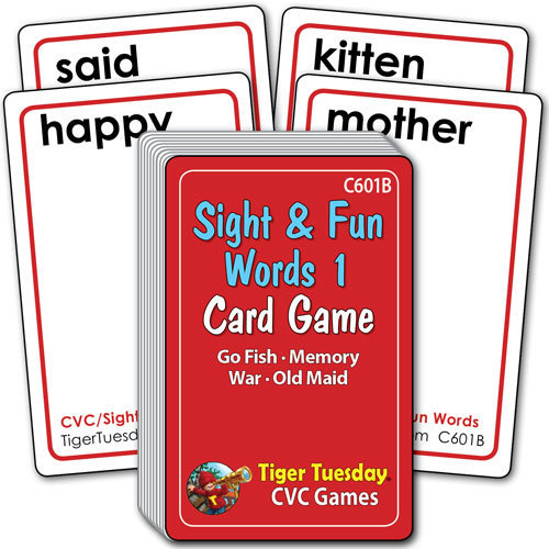 Card Game - Sight & Fun Words 1 (4 games in 1)