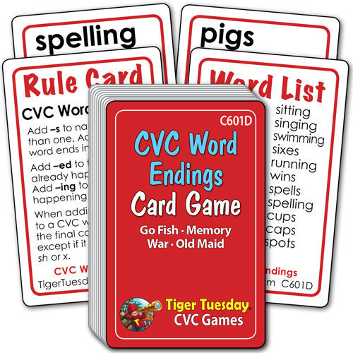 Card Game - CVC Word Endings (4 games in 1)