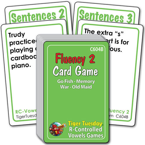 Card Game - Fluency 2 (4 games in 1)