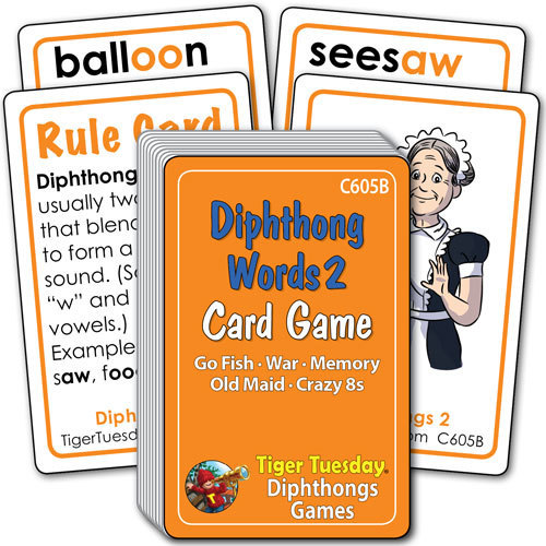 Card Game - Vowel Diphthongs - Set 2 (5 games in 1)