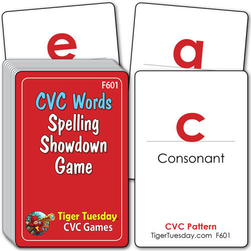Flashcards/Spelling Showdown Game - CVC Patterns
