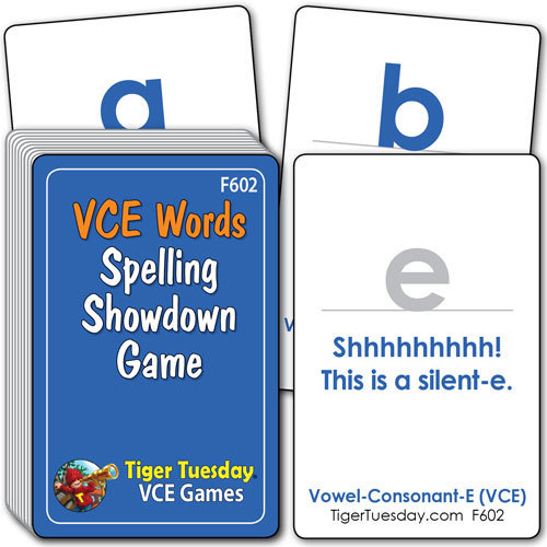 Flashcards/Spelling Showdown Game - VCE Patterns