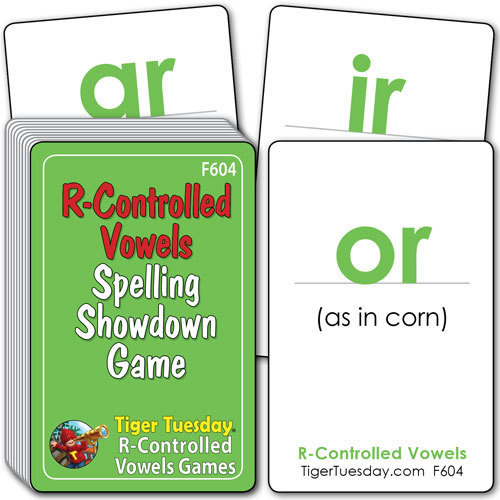 Flashcards/Spelling Showdown Game - R-Controlled Vowel Patterns