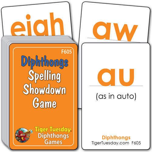Flashcards/Spelling Showdown Game - Diphthong Patterns