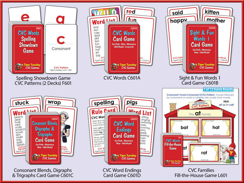 CVC (Consonant-Vowel-Consonant) Game Bundle Level 1