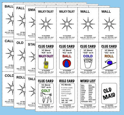 Phonics Games - Vowel Consonant  Blends - ALL, ALK, OLD, OLT, OLL