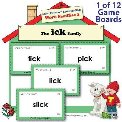 Word Families 2 -- Fill-the-House Game