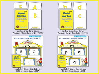 Reading Readiness Game Bundles - Alphabet Level A
